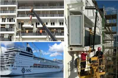 Horizons #7: Custom-made balconies for cruise ships conversion projects